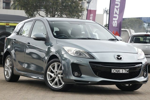 Used Mazda 3 BM SP25 Rosebery, 2013 Mazda 3 BM SP25 Grey 6 Speed Manual Hatchback
