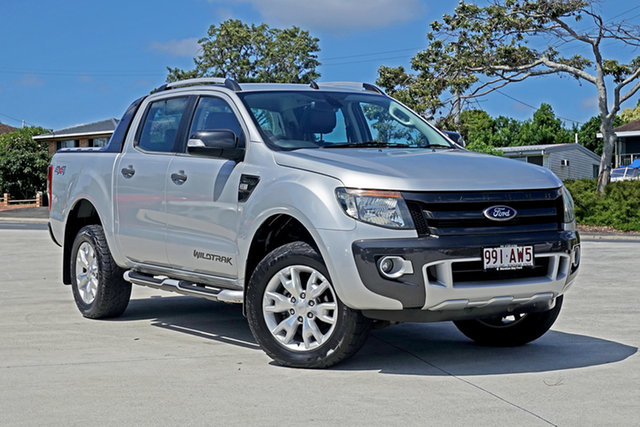 Used Ford Ranger PX Wildtrak Double Cab Capalaba, 2014 Ford Ranger PX Wildtrak Double Cab Highlight Silver 6 Speed Sports Automatic Utility