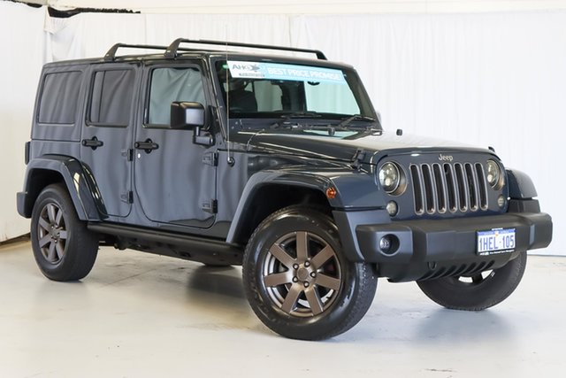 Used Jeep Wrangler JK MY18 Golden Eagle Wangara, 2018 Jeep Wrangler JK MY18 Golden Eagle Blue 5 Speed Automatic Softtop