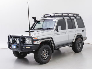 2015 Toyota Landcruiser VDJ76R MY12 Update GXL (4x4) Silver 5 Speed Manual Wagon.