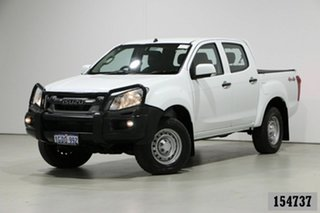 2016 Isuzu D-MAX TF MY15 SX (4x4) White 5 Speed Automatic Crew Cab Utility.