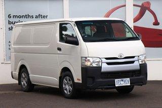 2015 Toyota HiAce KDH201R LWB White 4 Speed Automatic Van.