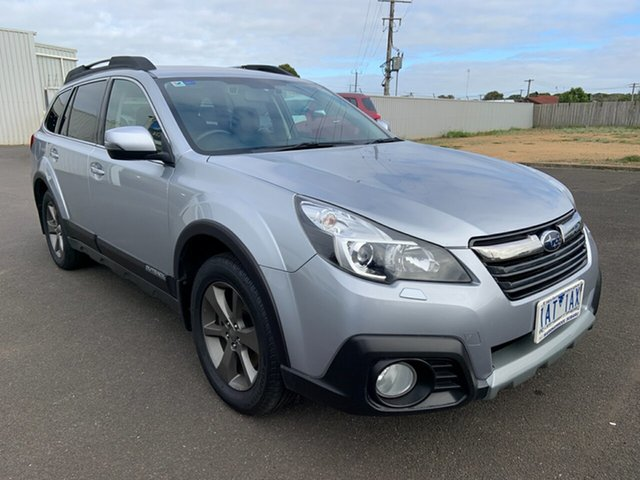 Used Subaru Outback B5A MY14 3.6R AWD Premium Warrnambool East, 2013 Subaru Outback B5A MY14 3.6R AWD Premium Ice Silver 5 Speed Sports Automatic Wagon