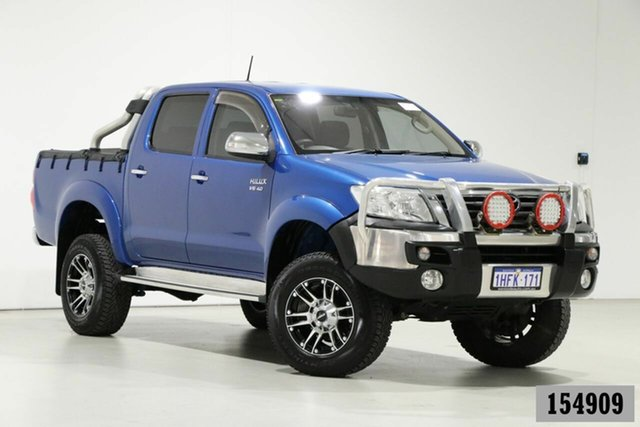 Used Toyota Hilux GGN25R MY12 SR5 (4x4) Bentley, 2013 Toyota Hilux GGN25R MY12 SR5 (4x4) Tidal Blue 5 Speed Automatic Dual Cab Pick-up