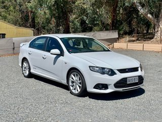 2013 Ford Falcon FG MkII XR6 White 6 Speed Sports Automatic Sedan.