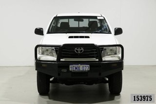 2014 Toyota Hilux KUN26R MY14 SR (4x4) White 5 Speed Manual Dual Cab Pick-up.