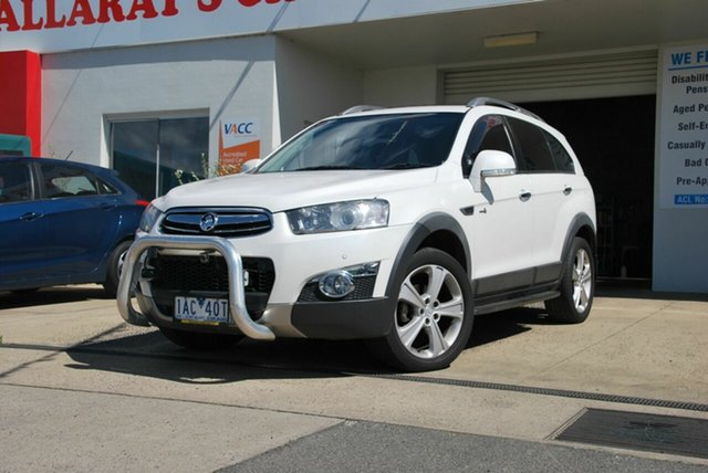 Used Holden Captiva CG MY12 7 LX (4x4) Wendouree, 2013 Holden Captiva CG MY12 7 LX (4x4) White 6 Speed Automatic Wagon