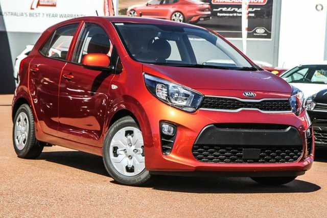 New Kia Picanto JA MY21 S Reynella, 2020 Kia Picanto JA MY21 S Orange 4 Speed Automatic Hatchback