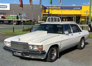 1982 Holden Statesman WB De Ville White 3 Speed Automatic Sedan.