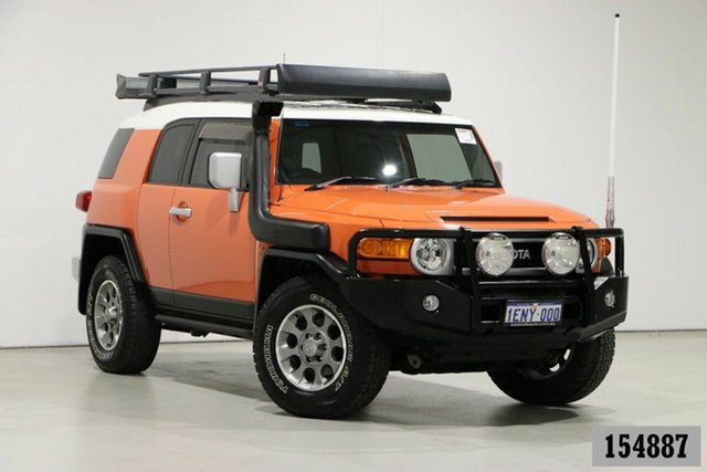 Used Toyota FJ Cruiser GSJ15R MY13 Update Bentley, 2013 Toyota FJ Cruiser GSJ15R MY13 Update Orange 5 Speed Automatic Wagon