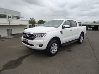 2020 Ford Ranger PX MKIII 2020.7 XLT Arctic White 10 Speed Sports Automatic Double Cab Pick Up.