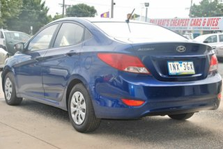 2016 Hyundai Accent RB3 MY16 Active Blue 6 Speed CVT Auto Sequential Sedan