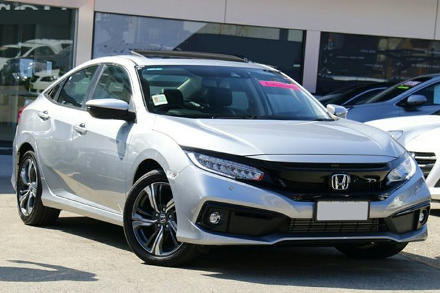 New Honda Civic 10th Gen MY20 VTi-LX Mount Gravatt, 2020 Honda Civic 10th Gen MY20 VTi-LX Lunar Silver 1 Speed Constant Variable Sedan