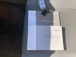 2009 Nissan Navara D40 RX White 5 Speed Automatic Utility
