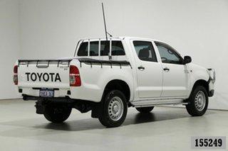 2015 Toyota Hilux KUN26R MY14 SR (4x4) White 5 Speed Manual Dual Cab Pick-up