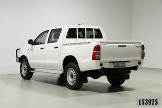 2014 Toyota Hilux KUN26R MY14 SR (4x4) White 5 Speed Manual Dual Cab Pick-up