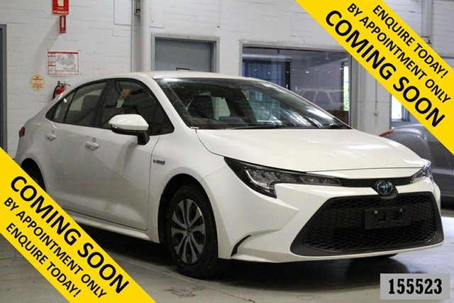 Used Toyota Corolla ZWE211R Ascent Sport (Hybrid) Bentley, 2019 Toyota Corolla ZWE211R Ascent Sport (Hybrid) White Continuous Variable Sedan