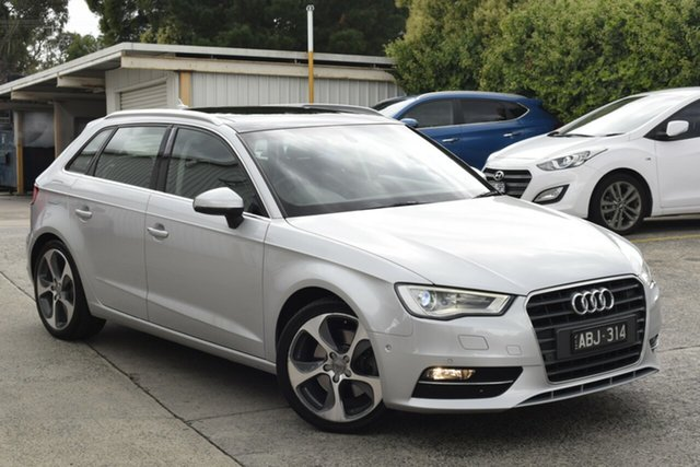 Used Audi A3 8V Ambition Sportback S Tronic Ferntree Gully, 2014 Audi A3 8V Ambition Sportback S Tronic Billet Silver 7 Speed Sports Automatic Dual Clutch