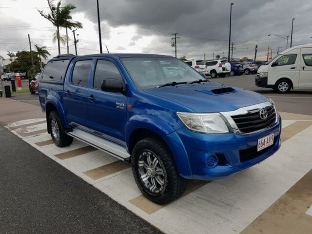 Pre-Owned Toyota Hilux KUN26R MY14 SR Double Cab Gladstone, 2014 Toyota Hilux KUN26R MY14 SR Double Cab Tidal Blue 5 Speed Manual Utility
