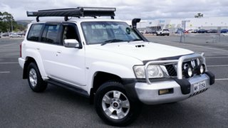 2006 Nissan Patrol GU IV MY06 ST White 4 Speed Automatic Wagon.