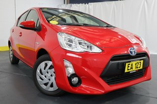 2016 Toyota Prius c NHP10R E-CVT Red 1 Speed Constant Variable Hatchback Hybrid.