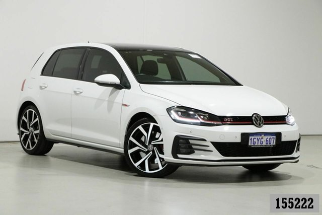 Used Volkswagen Golf AU MY19 GTi Bentley, 2019 Volkswagen Golf AU MY19 GTi White 7 Speed Direct Shift Hatchback