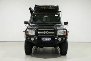 2016 Toyota Landcruiser VDJ79R MY12 Update GXL (4x4) Graphite 5 Speed Manual Double Cab Chassis.