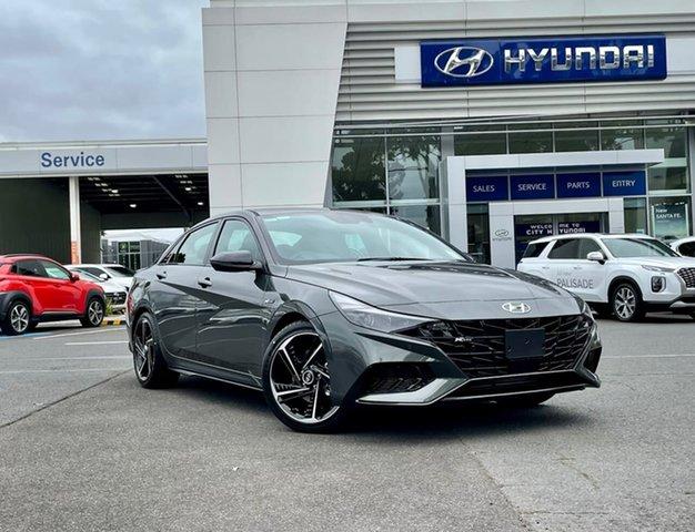 Demo Hyundai i30 CN7.V1 MY21 N Line Premium South Melbourne, 2020 Hyundai i30 CN7.V1 MY21 N Line Premium Iron Grey 7 Speed Auto Dual Clutch Sedan