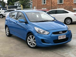 2018 Hyundai Accent RB6 MY19 Sport Blue 6 Speed Sports Automatic Hatchback.