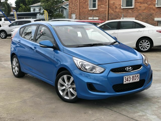 Used Hyundai Accent RB6 MY19 Sport Chermside, 2018 Hyundai Accent RB6 MY19 Sport Blue 6 Speed Sports Automatic Hatchback