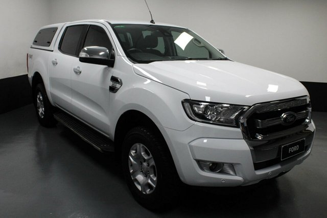 Used Ford Ranger PX MkII 2018.00MY XLT Double Cab Cardiff, 2017 Ford Ranger PX MkII 2018.00MY XLT Double Cab White 6 Speed Sports Automatic Utility