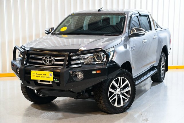 Used Toyota Hilux GUN126R SR5 Double Cab Hendra, 2015 Toyota Hilux GUN126R SR5 Double Cab Silver 6 Speed Sports Automatic Utility