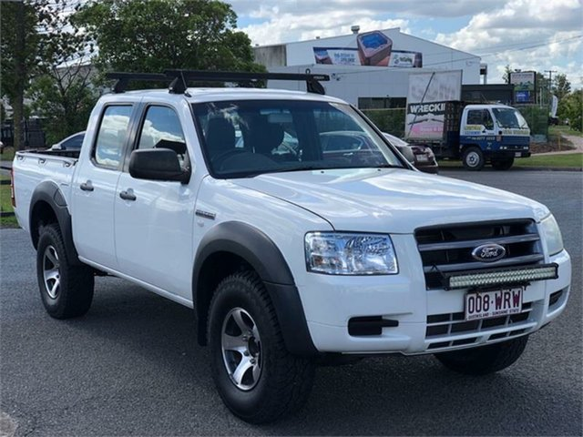 Used Ford Ranger PJ XL Hi-Rider Archerfield, 2008 Ford Ranger PJ XL Hi-Rider White 5 Speed Automatic Utility