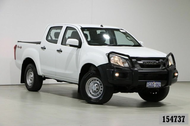 Used Isuzu D-MAX TF MY15 SX (4x4) Bentley, 2016 Isuzu D-MAX TF MY15 SX (4x4) White 5 Speed Automatic Crew Cab Utility