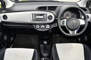 2012 Toyota Yaris NCP130R YR White 5 Speed Manual Hatchback.
