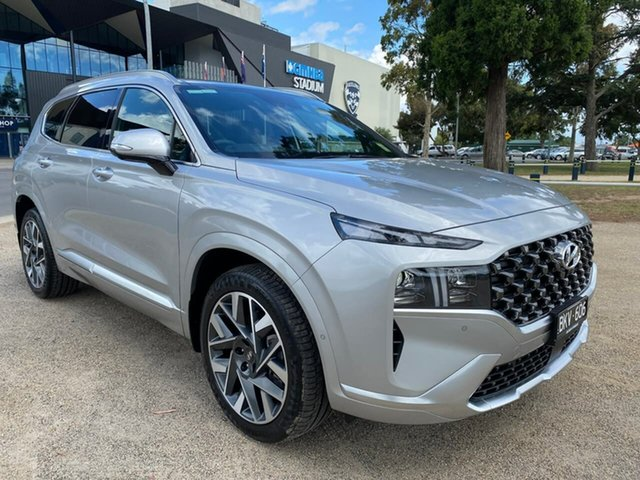 Demo Hyundai Santa Fe Highlander Geelong, 2020 Hyundai Santa Fe TM.V3 Highlander Silver Sports Automatic Dual Clutch Wagon
