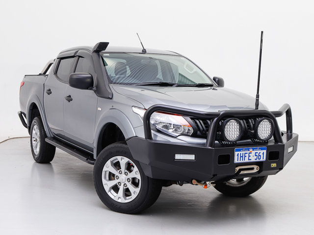 Used Mitsubishi Triton MQ MY18 GLX Plus (4x4), 2018 Mitsubishi Triton MQ MY18 GLX Plus (4x4) Silver 6 Speed Manual Dual Cab Utility