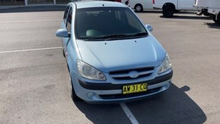 2008 Hyundai Getz TB MY09 SX Blue 5 Speed Manual Hatchback.