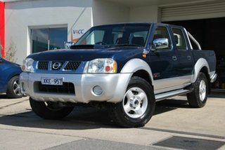 2009 Nissan Navara D22 MY08 ST-R (4x4) Blue 5 Speed Manual Dual Cab Pick-up.