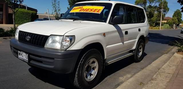 Used Toyota Landcruiser Prado KZJ95R RV (4x4) Prospect, 2000 Toyota Landcruiser Prado KZJ95R RV (4x4) White 5 Speed Manual 4x4 Wagon
