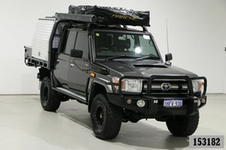 2016 Toyota Landcruiser VDJ79R MY12 Update GXL (4x4) Graphite 5 Speed Manual Double Cab Chassis