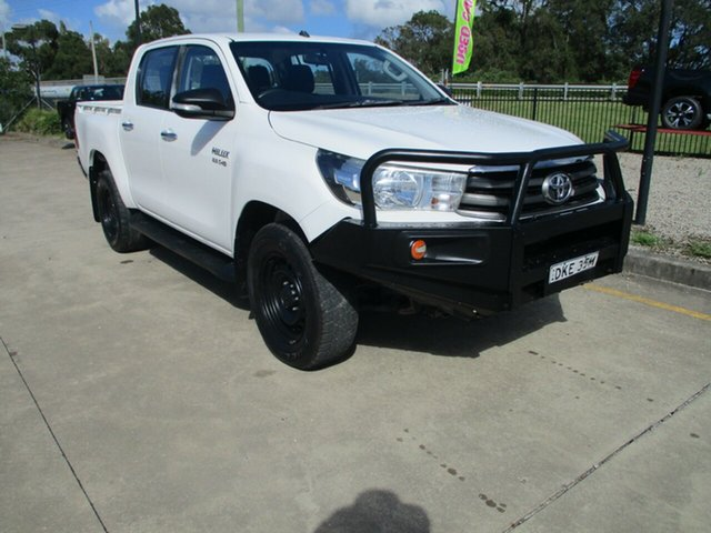 Used Toyota Hilux GUN126R SR Double Cab Glendale, 2016 Toyota Hilux GUN126R SR Double Cab White 6 Speed Manual Utility