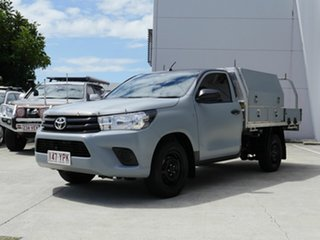 2018 Toyota Hilux GUN122R Workmate 4x2 Black 5 Speed Manual Cab Chassis.