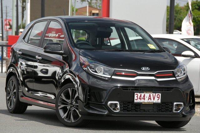 Demo Kia Picanto JA MY21 GT-Line Mount Gravatt, 2020 Kia Picanto JA MY21 GT-Line Aurora Black 4 Speed Automatic Hatchback