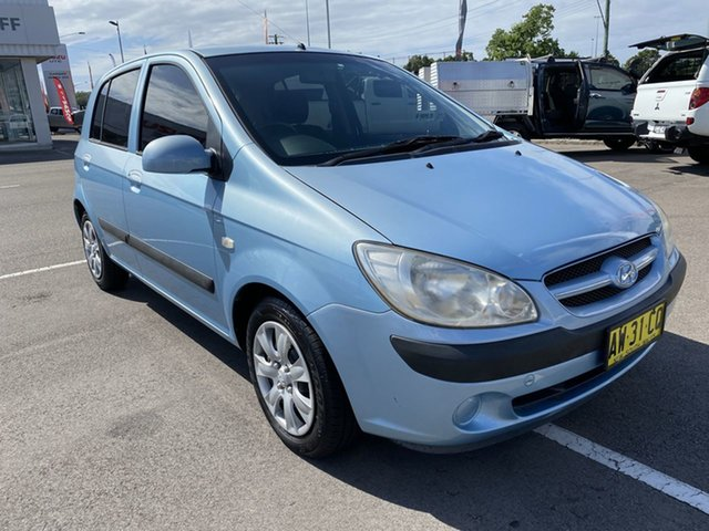 Used Hyundai Getz TB MY09 SX Cardiff, 2008 Hyundai Getz TB MY09 SX Blue 5 Speed Manual Hatchback