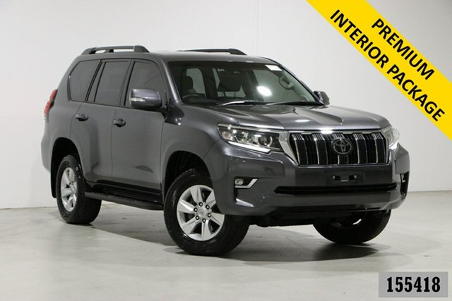 Used Toyota Landcruiser GDJ150R MY18 Prado GXL (prem Int) (4x4) Bentley, 2019 Toyota Landcruiser GDJ150R MY18 Prado GXL (prem Int) (4x4) Graphite 6 Speed Automatic Wagon