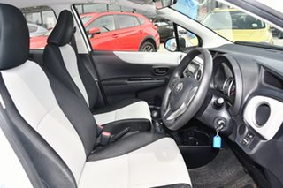 2012 Toyota Yaris NCP130R YR White 5 Speed Manual Hatchback