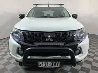 2018 Mitsubishi Triton MQ MY18 Blackline Double Cab White 5 Speed Sports Automatic Utility.