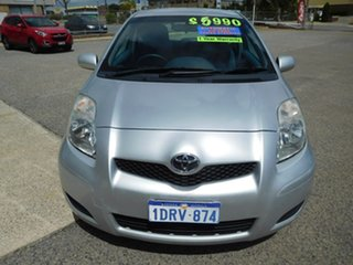 2011 Toyota Yaris NCP90R MY11 YR Silver 4 Speed Automatic Hatchback.