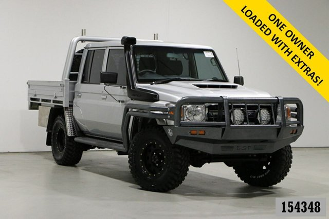 Used Toyota Landcruiser LC70 VDJ79R MY17 GXL (4x4) Bentley, 2017 Toyota Landcruiser LC70 VDJ79R MY17 GXL (4x4) Silver 5 Speed Manual Double Cab Chassis